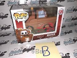 (1) Larry The Cable Guy Tow Mater Cars Signed Autographed Funko Pop! #129-coa