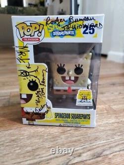 2013 Funko Pop Spongebob #25 Metallic Cartoon Shellabration Super Rare Signed