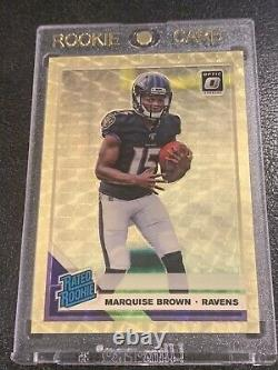 2019 Donruss Optic Marquise Hollywood Brown Gold Vinyl Rookie 1/1 RC Ravens