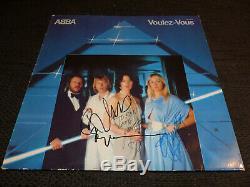 ABBA signed Autogramme auf VOULEZ-VOUS Vinyl Schallplatte SELTEN
