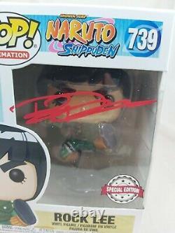 Animation Funko Pop Rock Lee Naruto No. 739 Signed by Brian Donovan