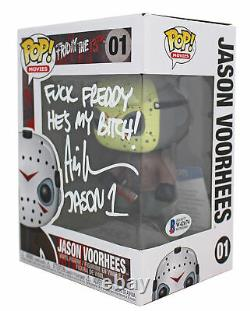 Ari Lehman F' Freddy He's My B Signed Funko Pop Vinyl Figure White Sig BAS