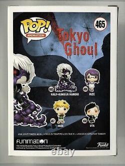 Austin Tindle Signed Funko Pop Animation #465 Tokyo Ghoul Half-Kakuja Ken Kaneki