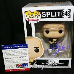Autographed James McAvoy signed Hedwig Split Glass Funko POP PSA JSA