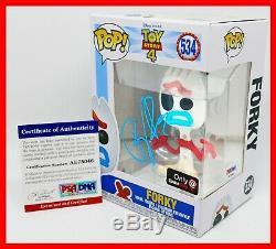 Autographed Tony Hale signed Toy Story 4 Forky Gamestop Exclsv Funko POP PSA JSA