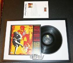Axl Rose Dizzy Signed Guns N Roses Use Your Illusion Vinyl PSA JSA Autograph