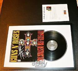 Axl Rose Signed Guns N Roses Appetite For Destruction Vinyl Album PSA JSA BSA