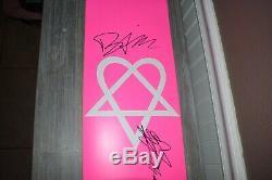 Bam Margera HIM Ville Valo SIGNED Heartagram Skateboard Deck BAS COA vinyl cd