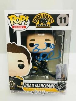 Brad Marchand Boston Bruins Signed Funko Pop Hockey Vinyl Figure
