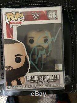 Braun Strowman Signed Wwe Funko Pop Vinyl Figure Monster Among Men Rare Jsa
