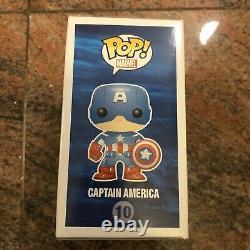 Chris Evans Signed Funko Pop Avengers #10 Captain America Beckett BAS COA -RARE