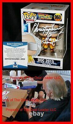 Christopher Lloyd Signed Doc 2015 Back To Future 2 Funko POP Beckett 960