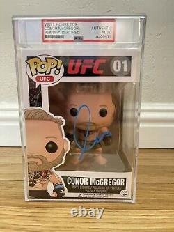 Conor McGregor signed Funko Pop Autographed Rare PSA DNA ENCAP Vaulted