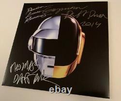 DAFT PUNK signed VINYL Cover RANDOM ACCESS MEMORIES Thomas Guy Grammy 2014