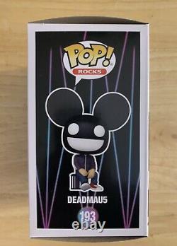 DEADMAU5 SIGNED Autographed Rare FUNKO POP #193 Deadmaus AUTHENTIC