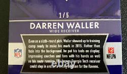 Darren Waller RC 2015 Panini Prizm #221 GOLD VINYL /5 PRIZM SSP EBAY 1/1
