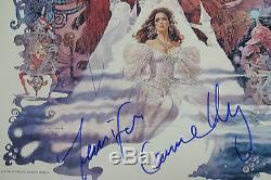David Bowie & Jennifer Connelly Autogramme signed LP-Cover Labyrinth Vinyl