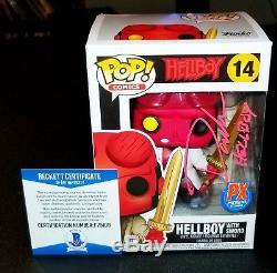 David Harbour Autographed Hellboy Sword Signed 14 Funko Pop Beckett JSA PSA