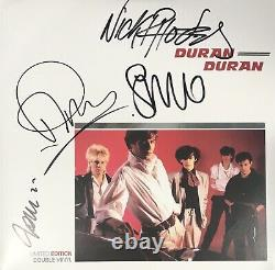 Duran Duran Signed Album Taylor Le Bon Rhodes Autographed Vinyl Photo Proof