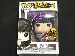 ELVIRA Signed SPOOKY EMPIRE 2019 FUNKO POP (LMTD2500) Purple Diamond Exclsuive