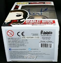 Elizabeth Olsen Signed Autograph Scarlet Witch Avengers Age Ultron Funko POP PSA