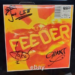 FEEDER Two Colours Ltd. 7 LP SIGNED Rare Framed No. 418/1000 + promo stickers