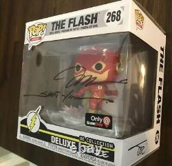 FUNKO POP DC The Flash Exclusive Triple Signed By Jim Lee, Williams, Sinclair