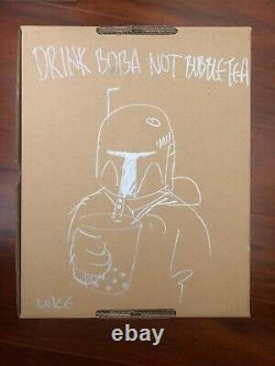 Flabslab Luke Chueh Boba Fett Version 1.3 SIGNED/Doodles Vinyl Figure Star Wars
