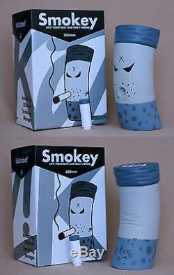 Frank Kozik SIGNED Kidrobot 12 2008 SDCC Greyscale Smokey Monger AUTOGRAPHED