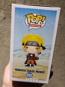 Funko POP! ANIMATION NARUTO SHIPPUDEN #185 SAGE MODE SIGNED with COA by JSA
