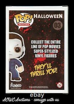Funko POP Halloween Michael Myers Signed by James Jude Courtney Beckett