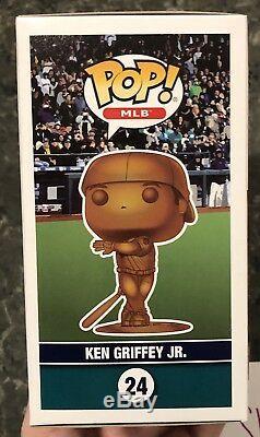 Funko POP! Ken Griffey Jr Bronze LE 24 Autographed with HOF 16 Inscription 1/1 COA