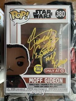 Funko POP Moff Gideon Giancarlo Esposito Autograph Target Exc Signed PSA/DNA