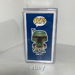 Funko POP! Star Wars Boba Fett #08 (Vaulted Blue Box) Signed By Jeremy Bulloch