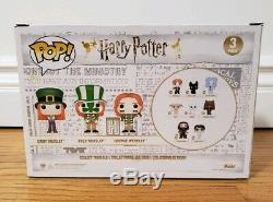 Funko POP! Weasley 3 Pack ECCC Exclusive Signed Autographed Harry Potter Figure