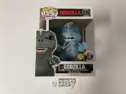 Funko Pop 2016 Nycc Exclusive Godzilla Signed Toy Tokyo Gid Glow In The Dark 239