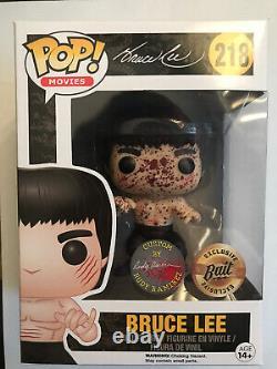 Funko Pop! Bruce Lee #218 Bait Excl. Signed by Rudy Ramirez READ DESCRIPTION