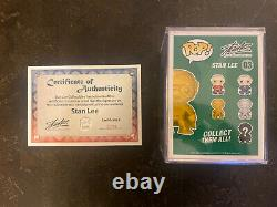 Funko Pop Gold Stan Lee New York Comic Con # 03 Signed With COA