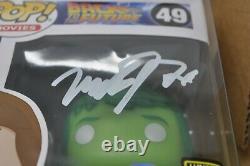 Funko Pop! Marty Mcfly Plutonium Gitd Plastic Empire Limited To 200 Signed Jsa