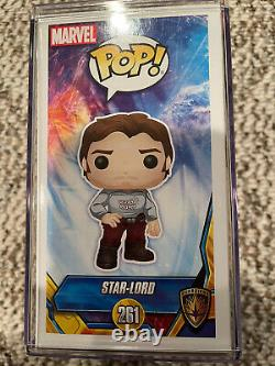 Funko Pop! Marvel -Star Lord signed by Chris Pratt with JSA COA