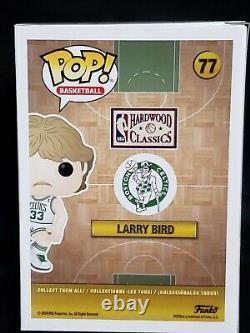 Funko Pop! NBA Larry Bird 77 Signed Boston Celtics WithBeckett COA Ltd Ed 125 Pcs