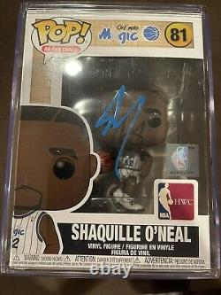 Funko Pop NBA Shaq signed with PSA COA