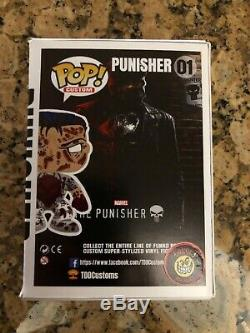 Funko Pop Netflix Punisher Custom Stan Lee signed Awesome piece