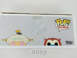 Funko Pop! Ren #164 & Stimpy #165 & Both Chase & Convention Exclusive Signed