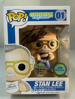 Funko Pop Stan Lee #01 Signed Convention Exclusive. Com 24/25 with Hard Protector