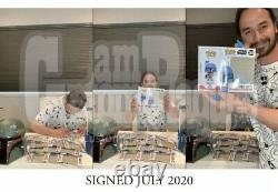 Funko Pop! Star Wars Animated Boba Fett Gamestop Signed By Daniel Logan In Blue