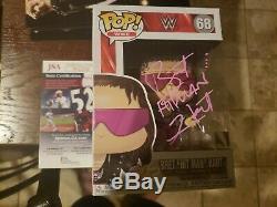 Funko Pop WWE Bret The Hitman Hart #68 Autographed JSA Autograph Signed