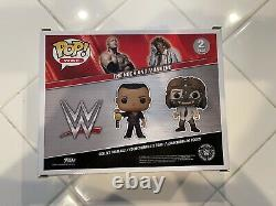 Funko WWE The Rock And Mankind 2 Pack Walmart Exclusive Signed Auto Inscription
