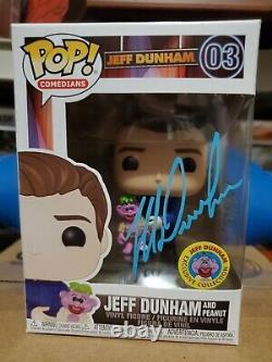 JEFF DUNHAM SIGNED FUNKO POP (blue)