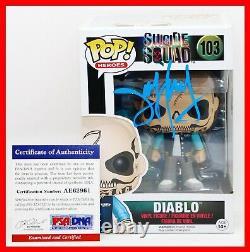 Jay Hernandez Diablo Signed Autograph Suicide Squad Funko POP PSA JSA